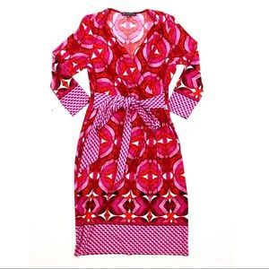 Adrianna Papell Faux Wrap Pink Dress